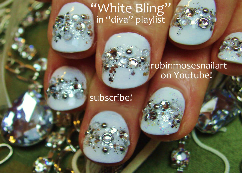 Nail Art Design: snow white nails, snow white diamond nail art ...