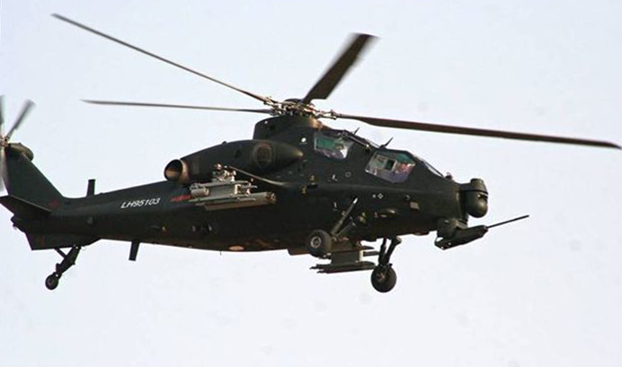 Chinese Z-10 Attack Helicopter Armed With HJ-10 ATGM ...