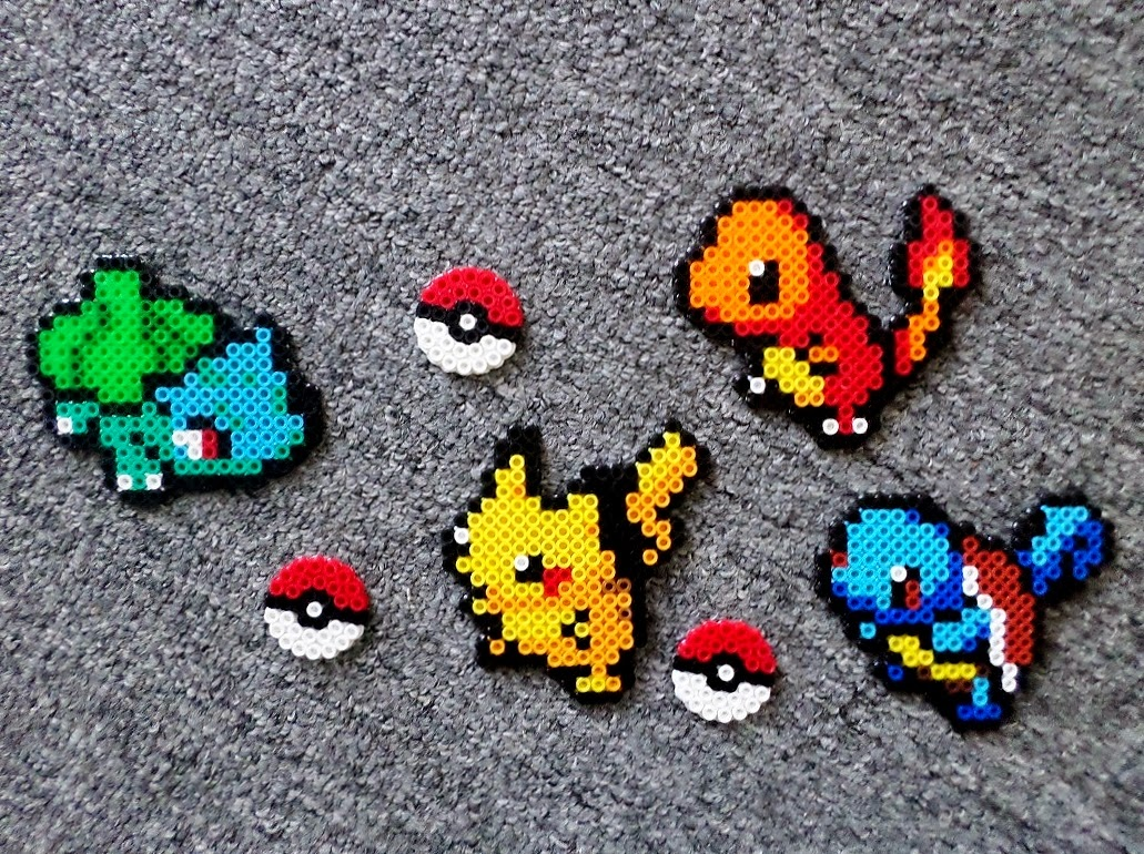 Long Black Fingers Pokemon Perler Beads