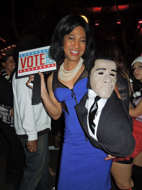 Michelle Obama costume WEHO Halloween Carnaval 2012