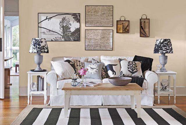a continuacin una pequea seleccin de fotos de interiores con paredes decoradas con cuadros