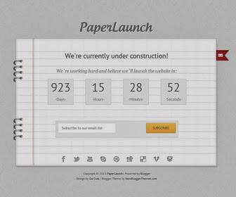 PaperLaunch Blogger Template
