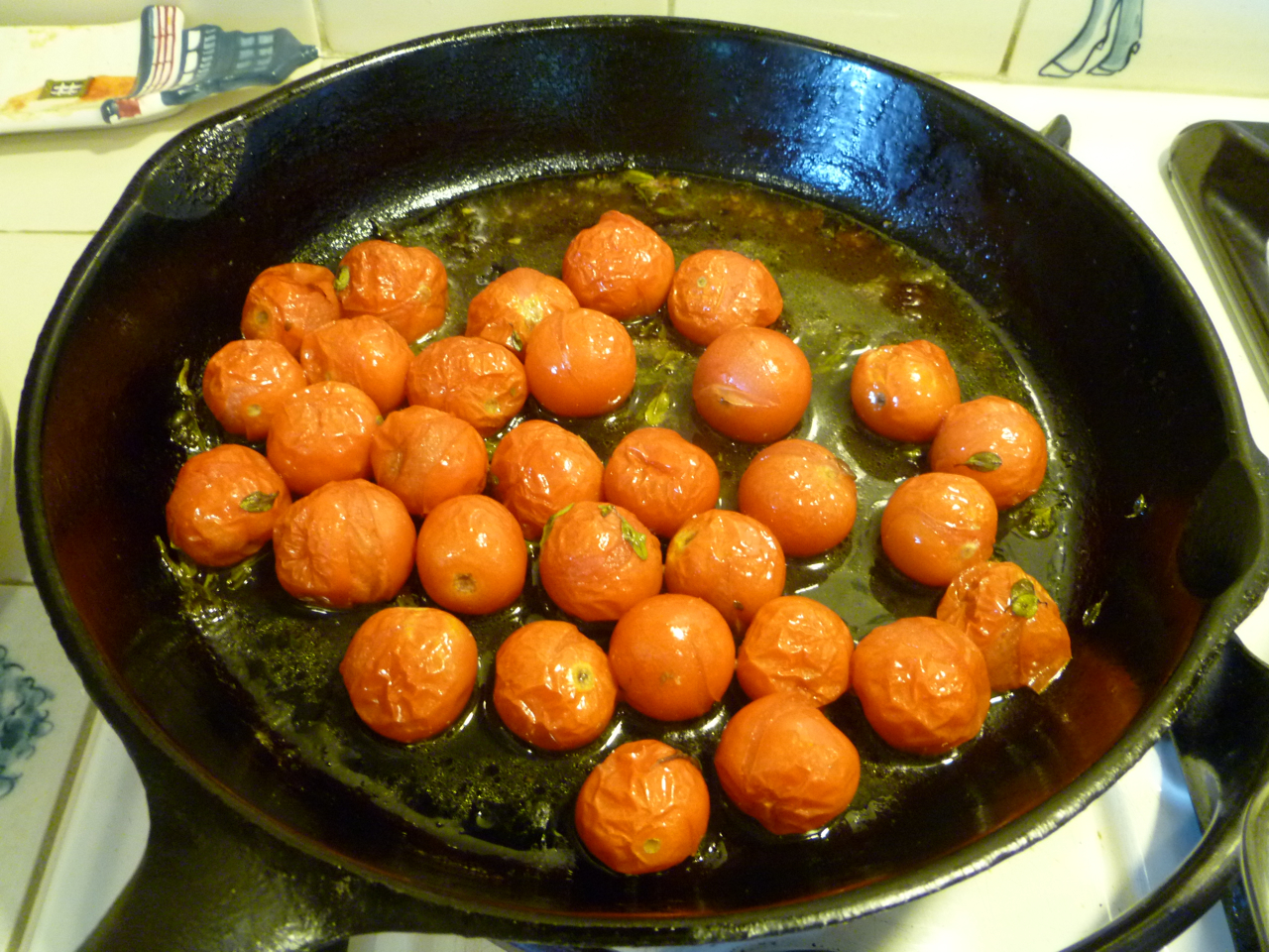 Fairmount Neighborhood Farmers Market: Leek and Cherry Tomato Clafouti