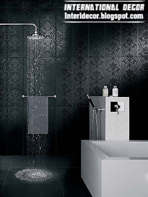 black wall tile for bathroom, bathroom wall tiles