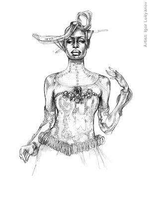 croquis de mode femme africaine