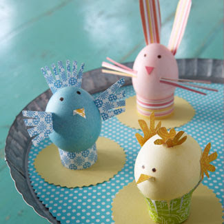 Craft Ideas  Kids  Waste on Easter Craft Egg Aminals Paper Kids Special Chicken Bunny Cute Display