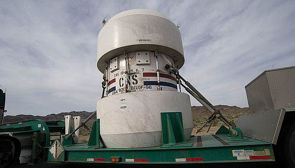 Nuclear waste container (2010 Nevada)