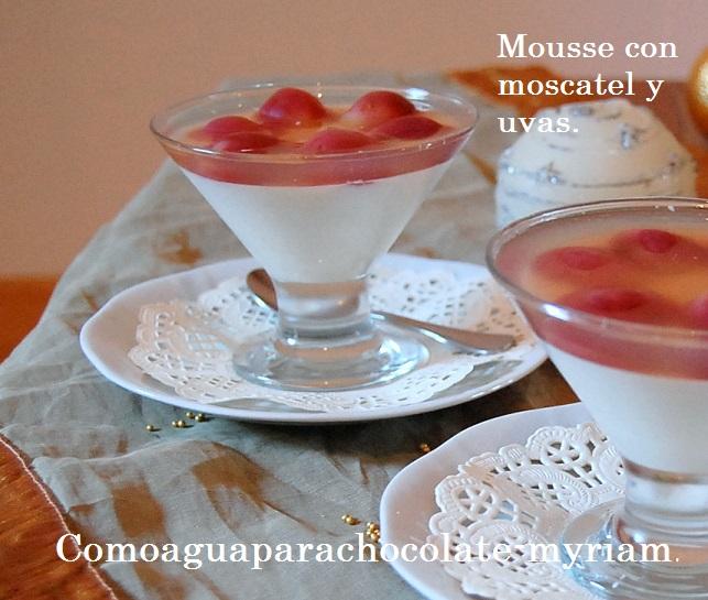 Como agua para chocolate mousse de yogurt con moscatel y - Como hacer mousse de yogurt ...