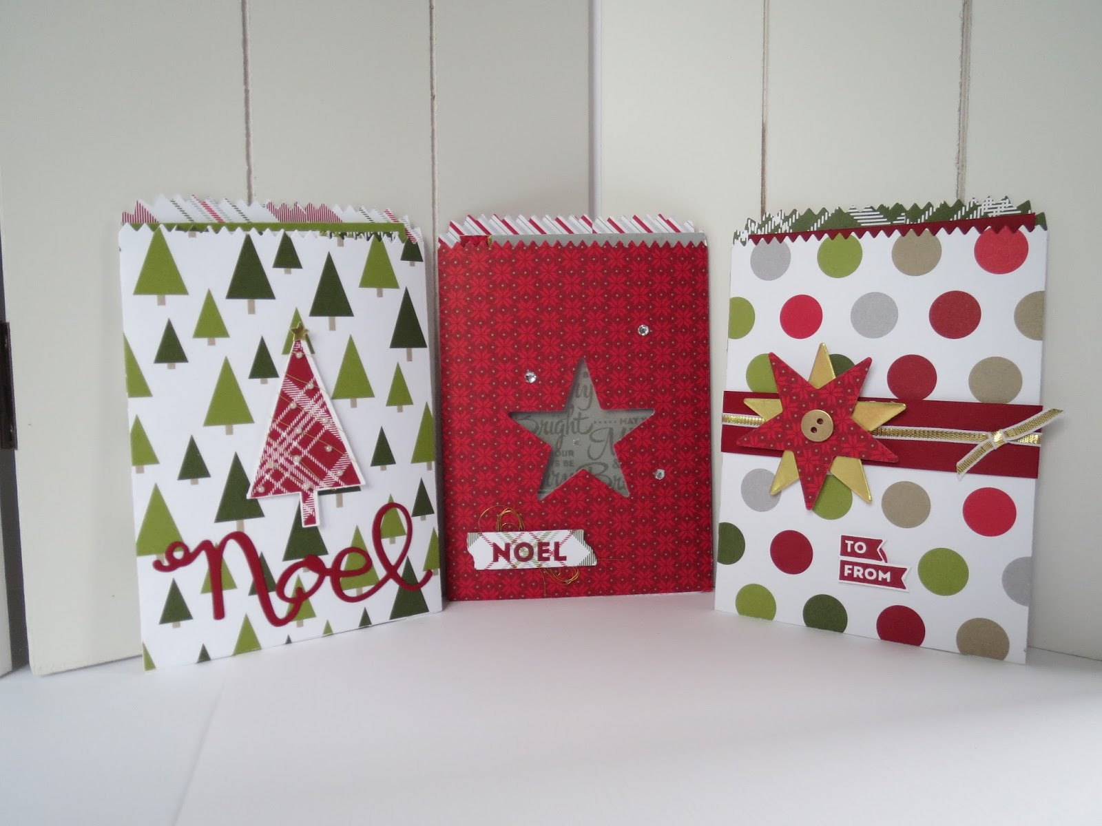 rosalien 39 s creations mini treat bags in christmas style. Black Bedroom Furniture Sets. Home Design Ideas