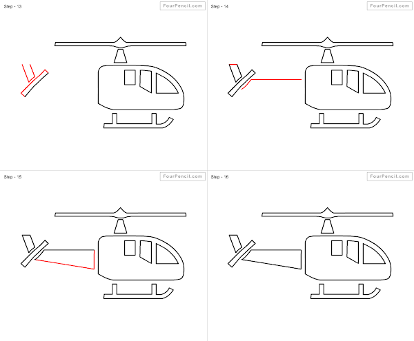 how to draw a war helicopter