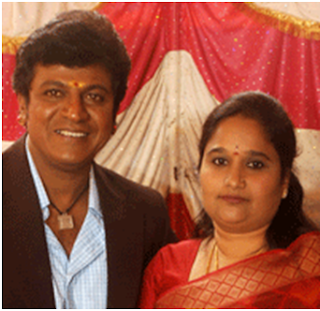 Shivrajkumar with wife Geeta