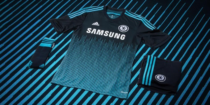 Chelsea 14 15 Third Kit+(1) OFFICIAL: Chelsea released their 3rd kit for 2014 15, its got a lot of lines on it! [Pictures]