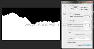 Penggunaan fungsi Select - refine edge