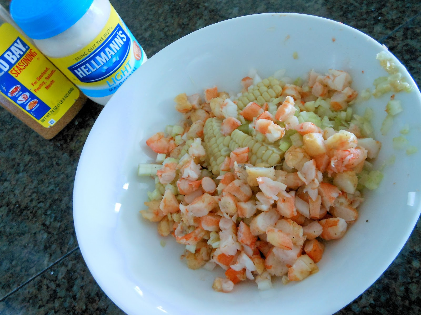cups medium shrimp, cooked, peeled and deveined ½ cup mayonnaise ½ ...