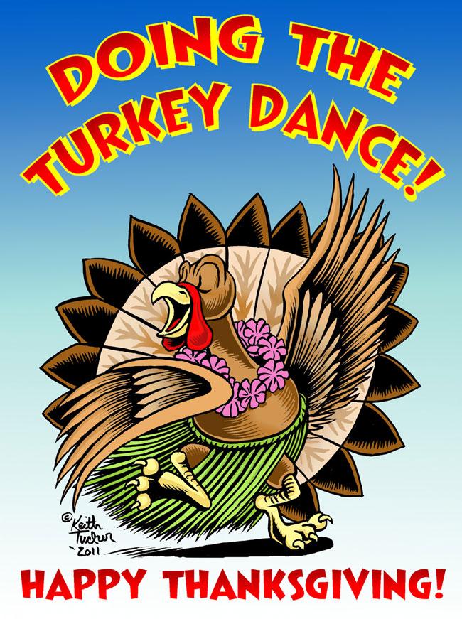 Hula girls and tiki gods quot happy thanksgiving turkey dance quot