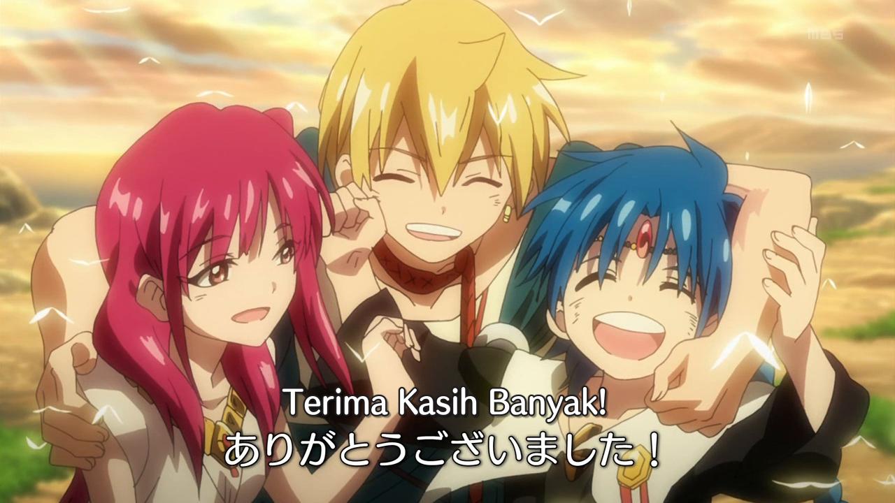 Magi the kingdom of magic episode 25 end subtitle indonesia