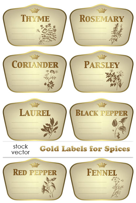 Quality Graphic Resources Golden Spice Labels