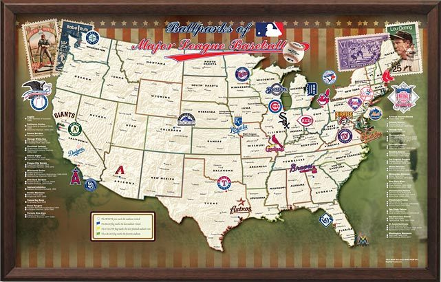 Life History With Photo MLB Major League Ballparks Lets Visit - Mlb us map