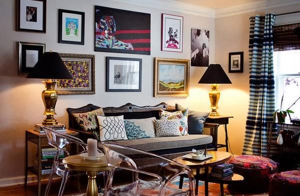 eclectic oturma odası dekorasyonu