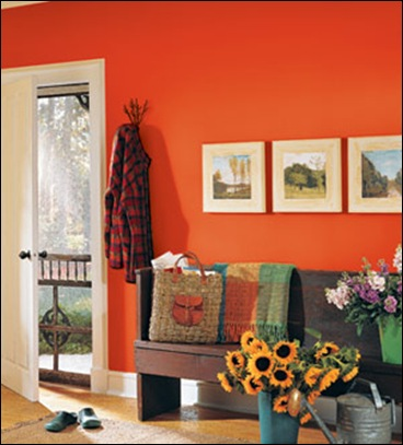 The Orange And Turquoise Used For The Front Door Above And This Entry