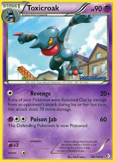 Toxicroak Boundaries Crossed Pokemon Card