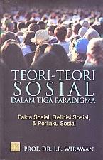 toko buku rahma:buku TEORI-TEORI SOSIAL DALAM TIGA PARADIGMA, pengarang wirawan, penerbit kencana