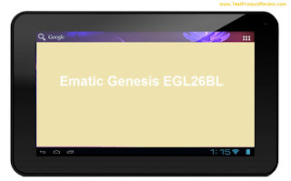 Ematic Genesis EGL26BL tablet