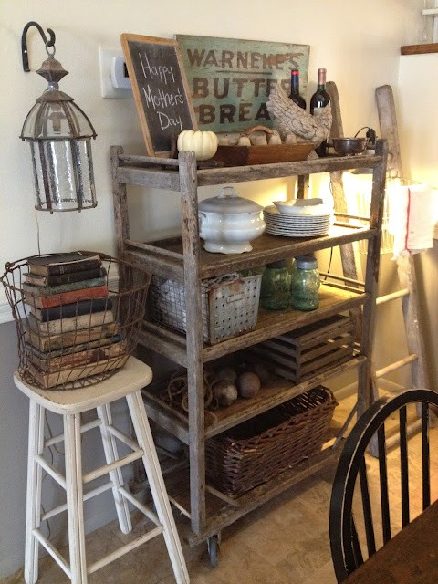 The Polished Pebble Vintage Kitchen Cart Roundup