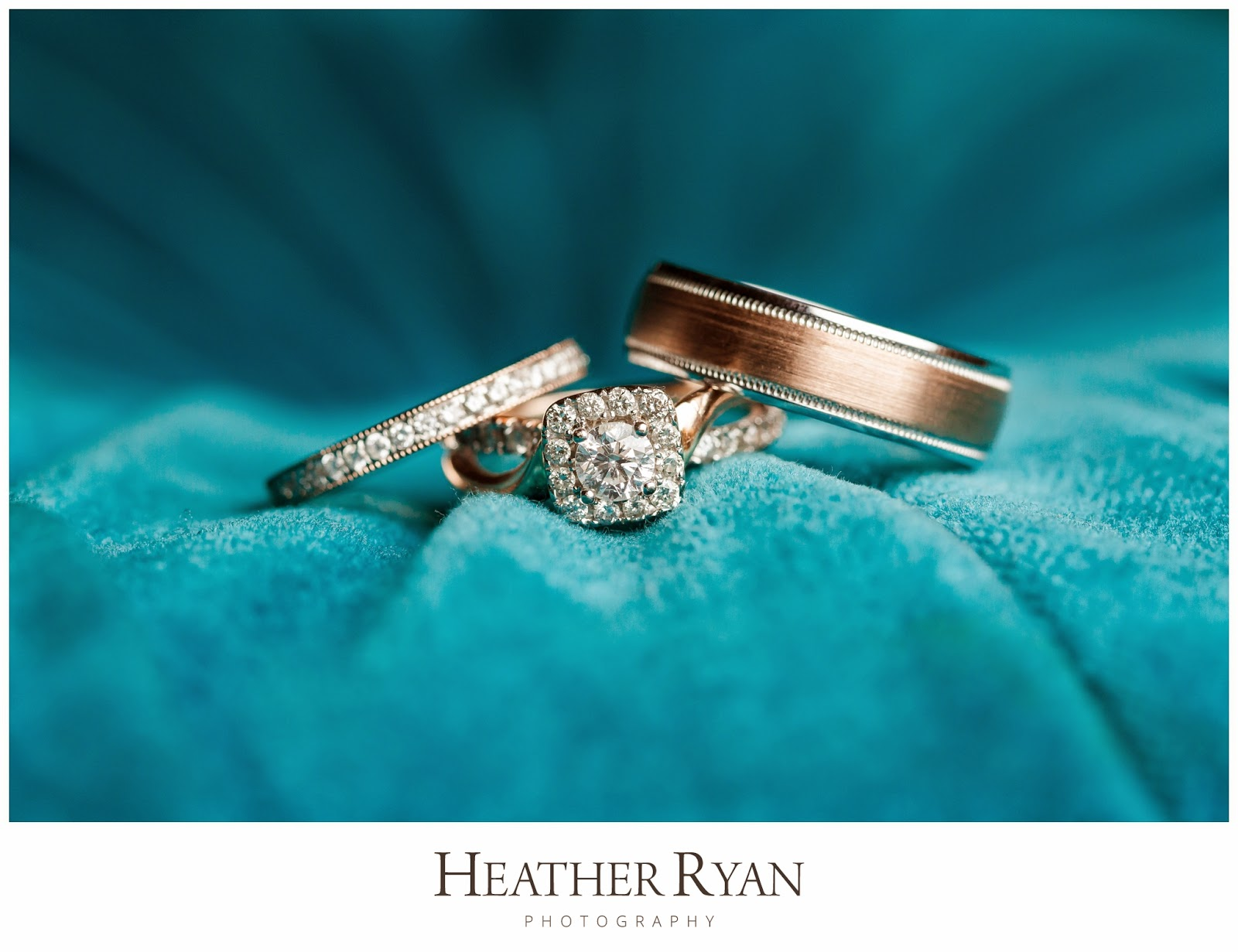 Rose Gold Wedding Ring Set | Photos by Heather Ryan Photography