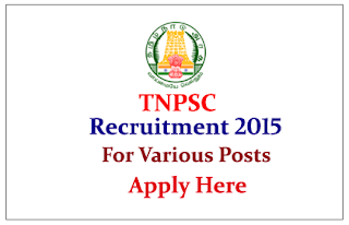 Tamil Nadu Public Service Commission Recruitment 2015 for the post of Assistant Statistical Investigator