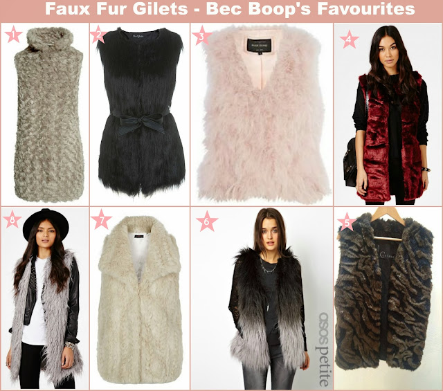 Faux Fur Gilets Wishlist