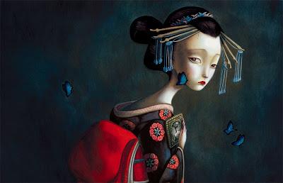 Los amantes de las mariposas. Ilustraciones de Benjamín Lacombe
