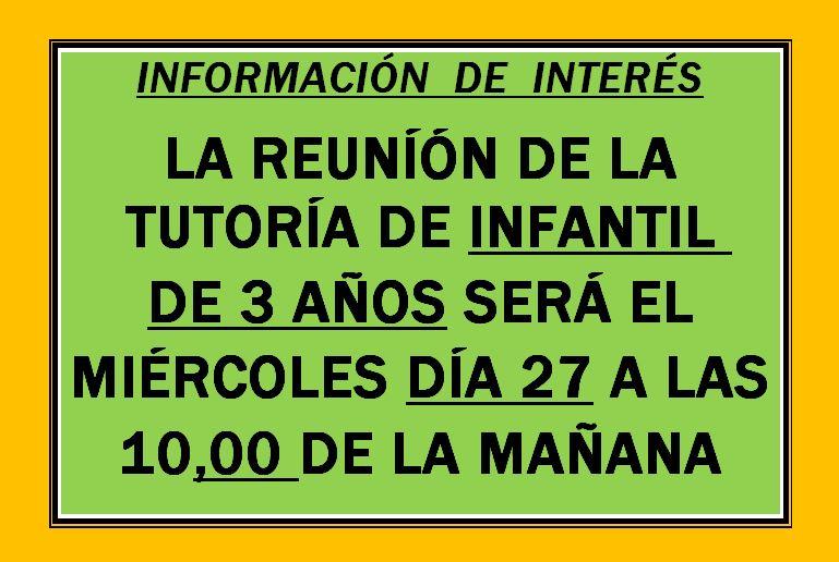 ASAMBLEA GENERAL DE INFANTIL 3 AÑOS