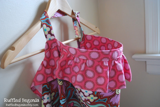 ruffled breastfeeding apron