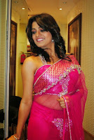 Tashu Kaushik transparent saree navel still