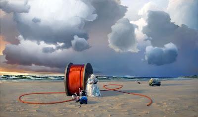 Poul Anker Bech: Efterårsmail fra en kabeltromle (2007), 198x340 cm