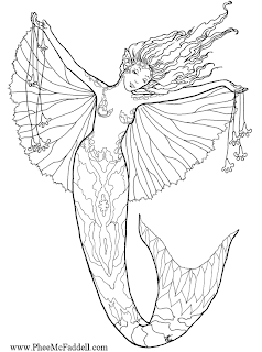 Free Fairy Fantasy Coloring Pages By Phee Mcfaddell Moreover Worksheet ...