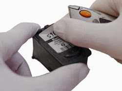 label removing the cartridge Canon PG-510 black