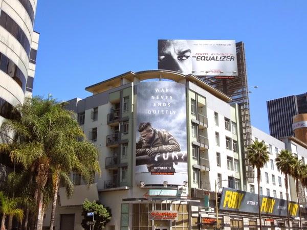 Fury movie billboards