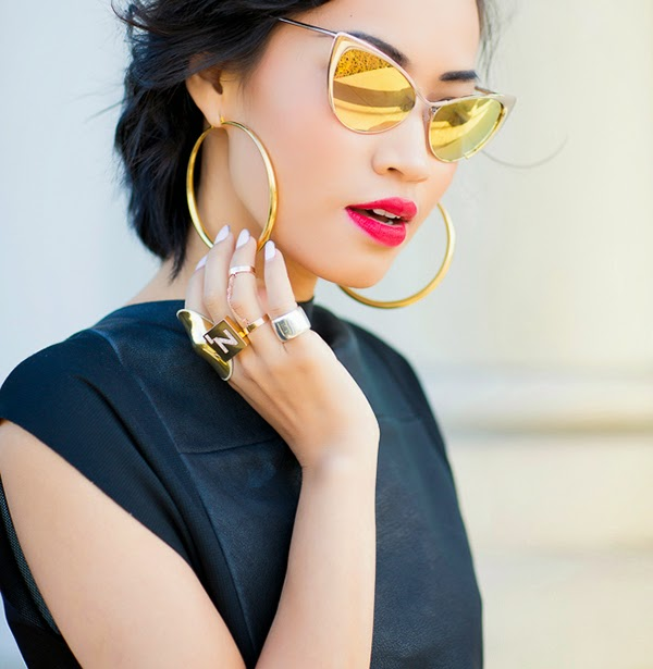 Tom ford Gold Cat Eye Sunglasses 2014