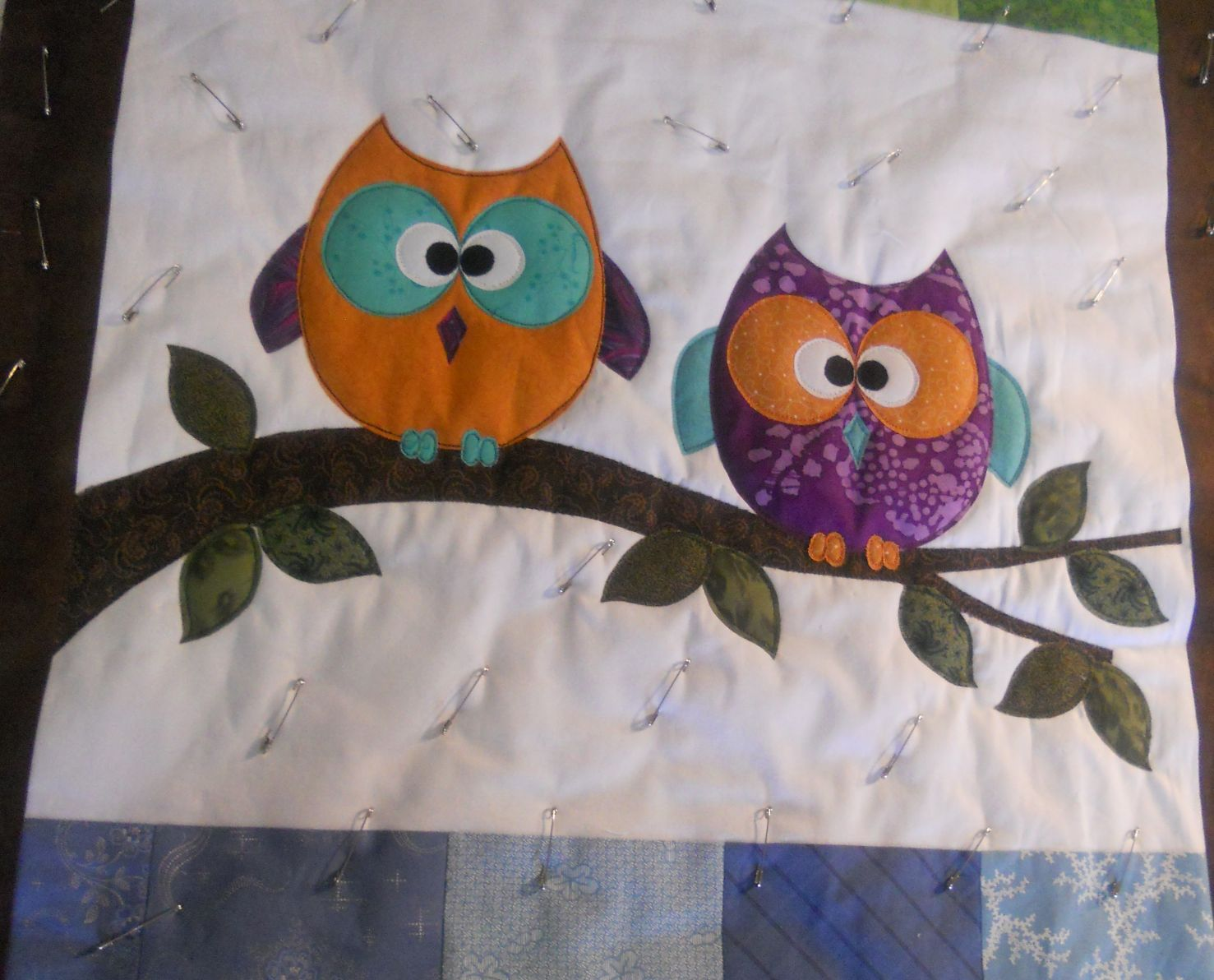 Free Quilt Pattern For Owls : Katie s Quilts and Crafts: Jaime s baby Owl Quilt.