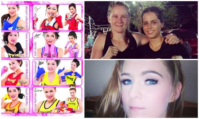 MuayThai angels Thai boxing makeup Kelly Creegan