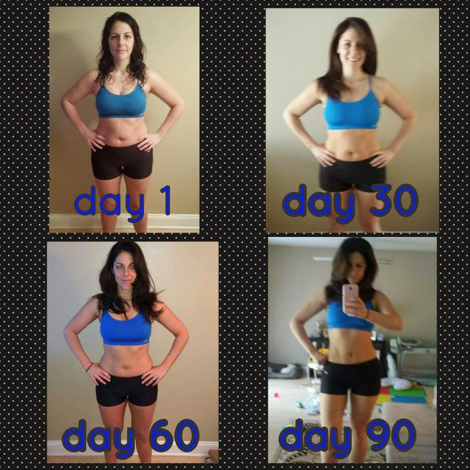 90 days into clean eating, shakeology, and T25