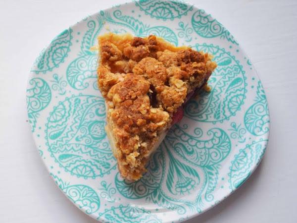 Pie Meets Fruit Crisp.... Dutch Apple Cherry Pie