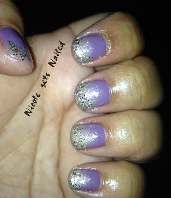 Purple Glitter Nail Polish Design