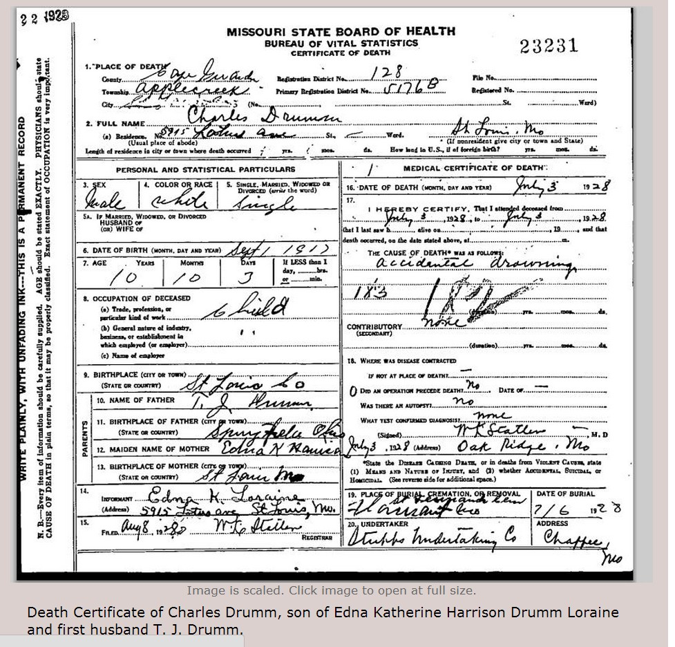 The hopelessly hooked genealogist a genea in arizona may 2015 tragedy was to befall much of the rest of charles immediate family as well his step father joseph b loraine ednas 2nd husband was electrocuted by xflitez Choice Image