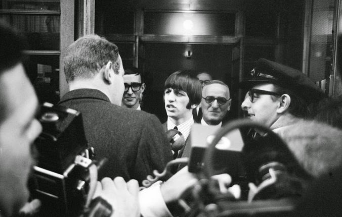 Beatle Ringo Starr Left A London Hospital Today To The Shrieks Of 50 Adoring Girls Eight Days Ago He Had His Tonsils Removed Then Burned Frustrate