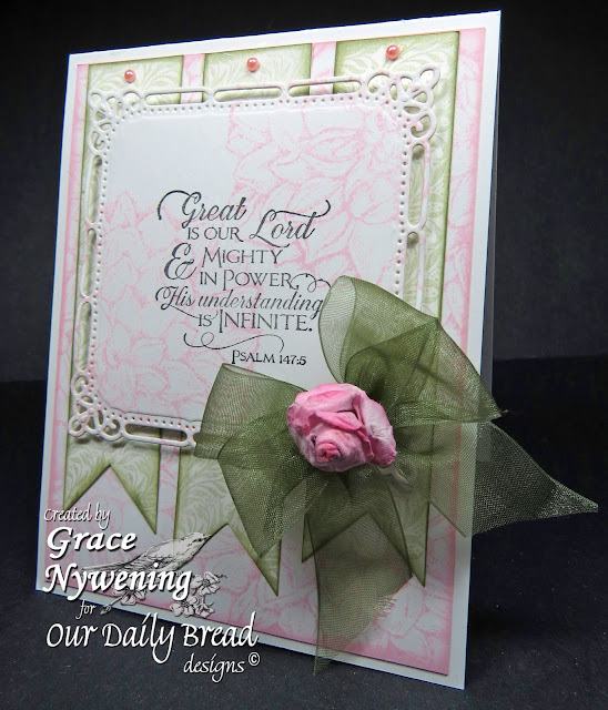 ODBD Stamps, Scripture Collection 11, Dahlia, Vine Background, designed by Grace Nywening