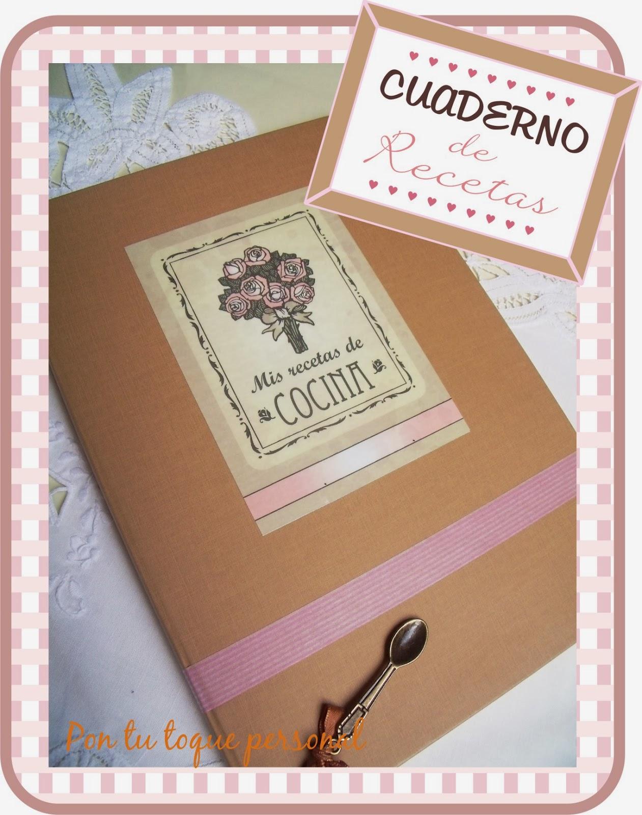 Pon tu toque personal cuaderno para recetas de cocina for Decoraciones para trabajos