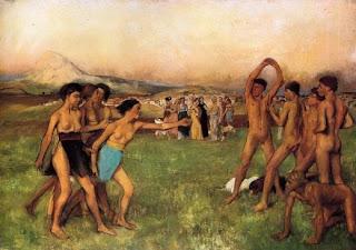 Jovenes espartanos de Edgar Degas